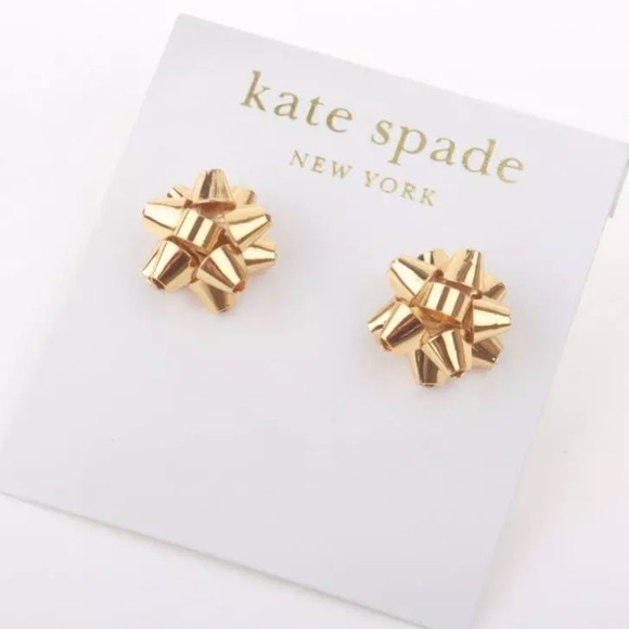 1987552980c3f Kate Spade Gold Bourgeois Bow Earrings
